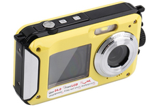 24MP Double Screens Waterproof Anti-shake Digital Camera (2.7+1.8 inch) Full HD 1080P 16x Zoom Camcorder DVR