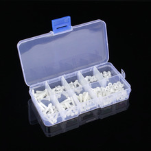 160Pcs White Metric M3 8 Sizes Assortment Stand-off Nylon Screws Bolt & Nuts Kit(China)