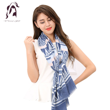 [YWJUNFU] Luxury Women Striped 100% Cotton Scarves Korean Soft Long Shawl 180*90cm Ladies Beauty Wraps Scarf Newest 2017 ZS0004(China)