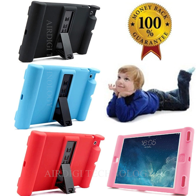 For iPad Mini 1/2/3 Retina Kids Safe Shockproof Rubber Silicone Case Stand Cover w/Kickstand<br><br>Aliexpress
