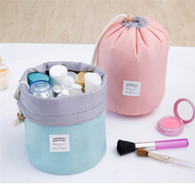 Round Cosmetic Bags Makeup Bag Women Travel Toiletry Bag Professional Storage Brush Necessaries Make Up Organizer Case Beauty(China)