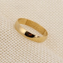 Bangrui Fashion 24k Plain 3mm Ring Italian Fashion Ring Yellow Color Shaped Ring Jewelry