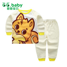 2pcs/set Infant Baby Girl Pajamas Clothes Sets Spring Cartoon Newborn Baby Clothing Set Boy Cotton Cheap Bebes Suit Tops Pants