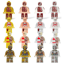 Building Blocks DIY Figures Anatomy Dissection Super Heroes Action Bricks Kids Learning Educational Kids Toys Hobbies Gift(China)