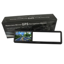 rearview mirror gps navigation system Bluetooth support garmin/igo/r66 map English,French,Russian,Arabic,Portugues