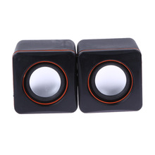 Pair USB/3.5mm Aux in Wired Speaker Music Stereo Mini Subwoofer Speaker Column for  MP3 MP4 Computer Desktop Laptop Notebook