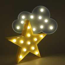 Romantic 3D Lamp LED Baby Night Light Mood Lamp Children Kids Bedroom Sleeping lamp Tree Love Stars Clouds Flamingo Penguin