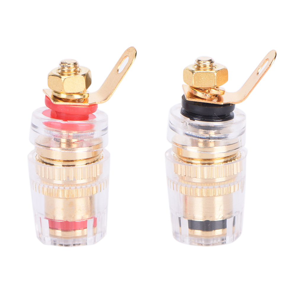 HOT 2Pcs Amplifier Speaker Terminal Binding Post Connector Crystal Terminals Connector For 4mm Banana Plug Jack(China (Mainland))
