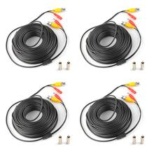 4x30M 100FT Security CCTV CCD Surveillance Camera Power Video BNC RCA Cable