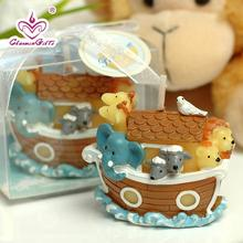 Noah's Ark shaped candle cartoon baby shower baptism party favor children birthday gift present