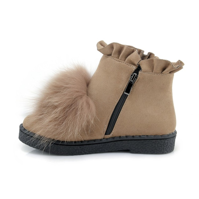 2018 Lukuco cute lady boots plus size 38 39 40 41 42 43 44 45 snow boots warm fur design shoes short plush inside free shipping