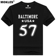 CJ MOSLEY 57 baltimore custom made name number t shirt Mobile Alabama t-shirt team usa black blue print text word Clint clothing