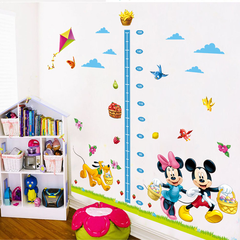 HTB1rLf5QXXXXXcpXXXXq6xXFXXXt - cartoon minnie mickey mouse growth chart wall sticker for kids room
