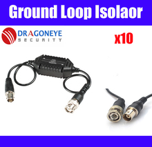 10pcs Ground Loop Isolator CCTV Balun Coaxial BNC Male to Female for Audio Video transmission signal amplifier cctv accessories