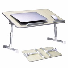 Large Size Adjustable Laptop Bed Coach Table Portable Standing Desk Foldable Sofa Breakfast Tray Notebook Stand Reading Kid Desk(China)
