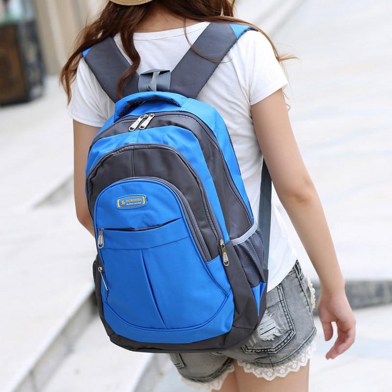 Unisex Nylon Patchwork Backpacks Large Capacity Student Portfolio School Bag Laptop Rucksack Casual Travel Bolsa Mochila XA510YL<br><br>Aliexpress
