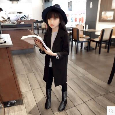 2017 Spring and Autumn European style long section of a button suit summer girls big virgin boy jacket suit 3-16 years old<br><br>Aliexpress