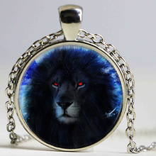 black Lion King Necklace Pendant gifts glass The Secret of Moonacre The lion Simba Necklace Pendant Gift