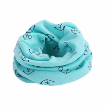 2017 Winter New Cute Lovely Boys Girls Cartoon Scarf  O Ring Collar Spring Autumn Children Fashion Scarf 7 Colors Hot Sale