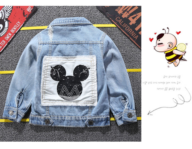 19 Mickey Denim Jacket For Boys Fashion Coats Children Clothing Autumn Baby Girls Clothes Outerwear Cartoon Jean Jackets Coat 4