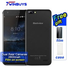 "Blackview A7 Dual Rear Cameras Mobile Phone Android 7.0 MT6580A Quad Core 5.0"" cellphone 1GB+8GB 2800mah 5MP Unlocked Smartphone"