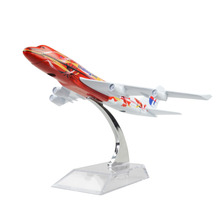 MALAYSIA AIRLINES SYSTEM BERHAD B747 The Hibiscus 16cm model airplane kits child Birthday gift plane models toys Christmas gift(China)
