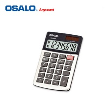 OSALO OS-260P New Fashion Mini Handheld Pocket ABS Material Portable Calculator Double Power Solar Energy