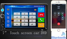 2 Din Car DVD Player 7 inch HD In Dash Touch Screen Bluetooth Car Stereo