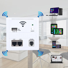 Newest Wall Embedded 6 in 1 AP router 3G 5V 2A 150 Mbps wireless WIFI computer USB charge socket panel cell phone LAN/Phone