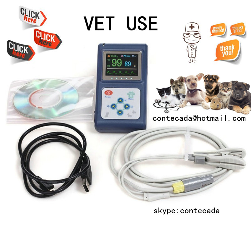 Handheld Veterinary Pulse Oximeter CMS60D-VET with Tongue SpO2 Probe+PC Software<br><br>Aliexpress