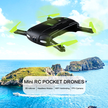 Selfie Drone Dron Mini Foldable RC Pocket Drones WiFi FPV Camera Quadcopters G-Sensor Mode Waypoints WiFi APP Control Helicopter(China)