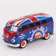 Interesting children's intelligence toys, automobile alloy die-casting, mini tour bus model, children's toy car(China)