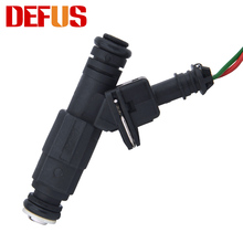 4PCS New Fuel Injectors GT650 650cc for Modified Car Large Flow Modification High Impedance Nozzle Injection 12 Holes with Plugs(China)