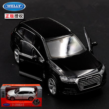 1pc 1:36 11.5cm delicacy WELLY audi Q7 suv car alloy model home collection decoration boy toy gift(China)