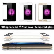 "4 Colors 0.26mm 9H HD 2.5D Front Full Cover Tempered Glass For iPhone 6 6S Plus 6SPlus 7 7Plus Screen Protector Film 4.7"" 5.5"""