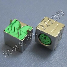 10pcs/lot 6Pin Mini-DIN PS/2 Connector for All-in-one PC Keyboard and mouse Mini DIN Port , Green