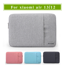 New Laptop Sleeve for xiaomi air notebook 12 13 inch Tablet Bag for xiaomi air 13.3 Solid Laptop Bag for Women(China)