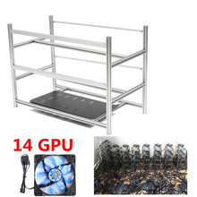 Buy Stackable Open Air Mining Rig Frame Miner Case + 10 LED Fans 14 GPU ETC BTH New Computer Mining Case Frame Server Chassis for $151.30 in AliExpress store