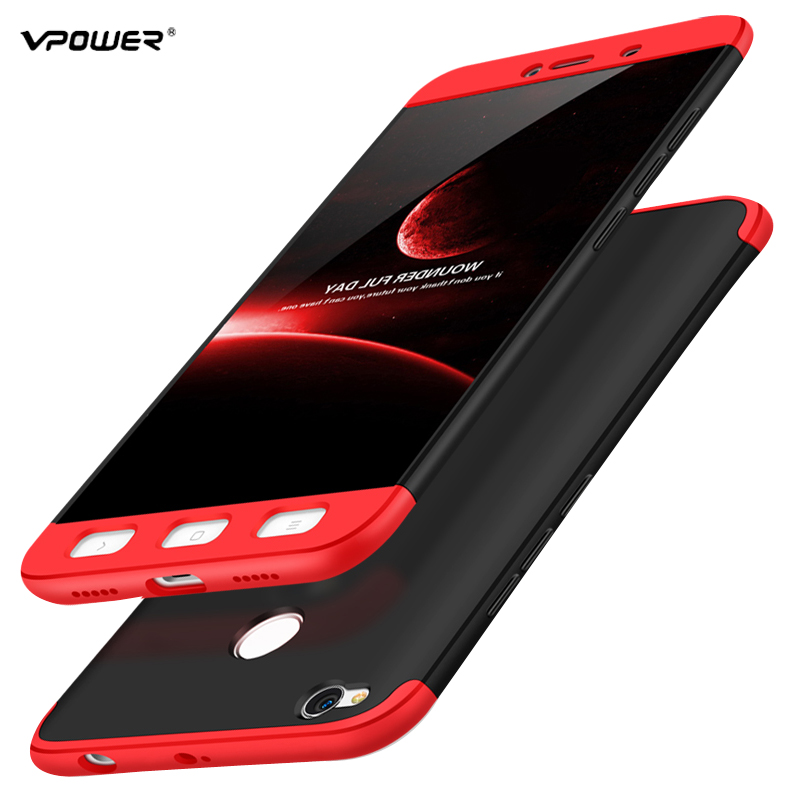 Xiaomi Redmi 4x case 3 1 hard cover full protective phone cases capas luxury original Vpower Xiaomi redmi 4x case cover 5.0