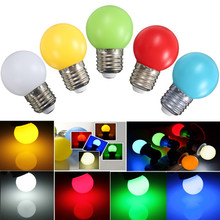 Newest Colorful LED Light Bulb E27 Golf Ball Globe LED Lamp Bulb 1W 2W 3W Energy Saving Lamp Home Decor LED Light 110-240V