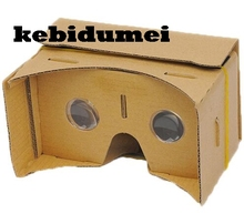 "kebidumei DIY Cardboard For Virtual Reality VR Mobile Phone 3D Viewing Glasses For 5.0"" Screen Google VR 3D Glasses(China)"