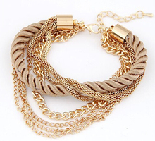 MINHIN Fashionable Rope Chain Decoration Bracelet For Girl Six Color Hot Selling Bracelet For Summer Party Special Accessory(China)