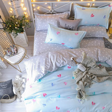 Bedding set Queen size 4pc Duvet cover sets Twin Full size Polyeter Duvet Cover Home Textile Love Dropshiping(China)