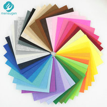 Mix Color 42 pcs 15*15CM Non Woven Felt Fabric 1mm Thickness Polyester Cloth Felts for Sewing Dolls Crafts Kids Toys material