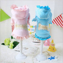 New winter clothing lace Princess wind bronzing small bones Tactic Yorkshire pet dog clothes
