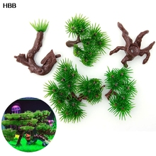 1 pc Water Aquarium Glass Artificial Plants Fish Tank Decoration Accessories Simulation Moss Tree Pet Supplies