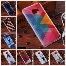 Fashion Painted Patterns Soft TPU Back Cover For Silicone Case for Samsung Galaxy C5 C5000 Phone Protective Cases +Lanyard