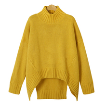 2016 European Style Flat Knitted Women Long Sweaters Casual Pullover Turtlence  Female Tops Batwing Sleeve Thick Brand Clothing