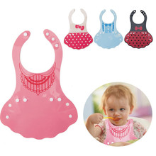 Updated New Baby Silicone Bib Disposable Bib Kids Bibs Children Pick Rice Pocket Cute Boy And Girls Bibs