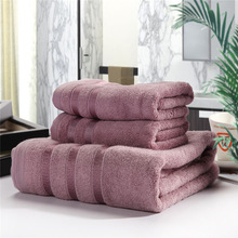 New Arrival 100% BambooFiber Towel Set Plain Dyed Hand face beach towel Quick Dry Towels bathroom for Adult 3pc/set Solid YJ02(China)